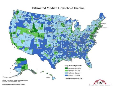 census bureau usa estimated median household income 2013 source u s