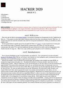 Le Journal Du Hacker : hack apprendre le hacking 2020 hackers 3 ~ Preciouscoupons.com Idées de Décoration