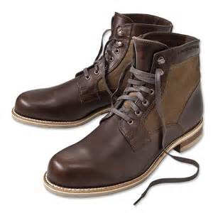 Canvas and Leather Boot Men
