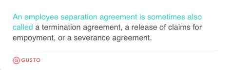 employee separation agreement