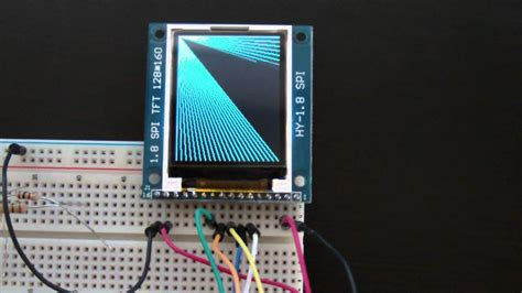 arduino connected to 1 8 quot spi tft lcd youtube