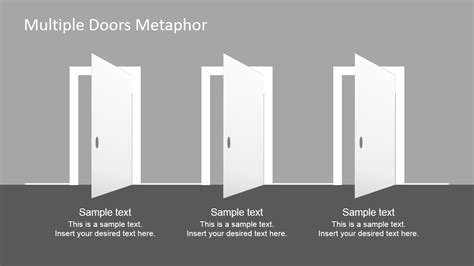 multiple doors metaphor  powerpoint template slidemodel