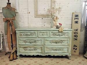 Shabby Chic Dresser : vintage painted cottage shabby aqua romantic dresser dr258 ~ Sanjose-hotels-ca.com Haus und Dekorationen