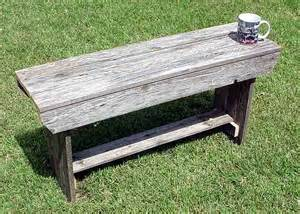 Rustic Barn Wood Bench Plans