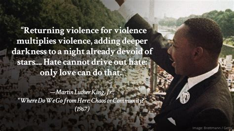 luther martin king quotes jr violence returning multiplies famous hate legacy quote darkness where go mlk drive cannot only stars