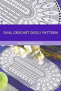 Oval Crochet Doily Pattern  Ufe0f Mycrochetpattern