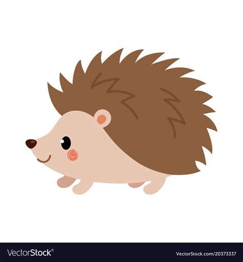 Hedgehog Clipart Adorable Hedgehog In Modern Flat Style Royalty Free Vector