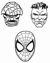 Marvel Superheroes Coloring Super Heroes Printable Drawing Drawings Kb sketch template
