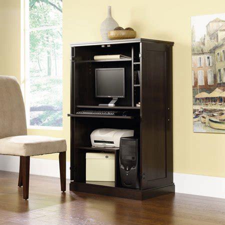 computer armoire sauder walmart desk cabinet office pc furniture armoires table printer doors hutch storage monitor hidden hide finishes multiple