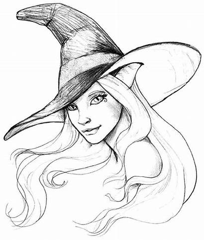 Coloring Pages Halloween Witch Witches Printable Drawing