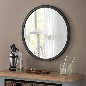 Circle Light Mirror Classic Circle Black 80cm Exclusive Mirrors