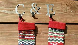 christmas stocking hooks letter hooks christmas hooks With 6 letter stocking holders