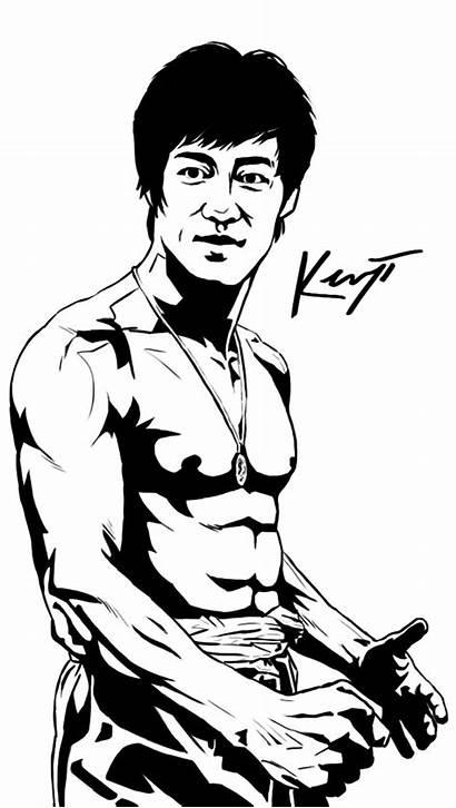 Bruce Lee Coloring Deviantart Deviant 40th Tribute