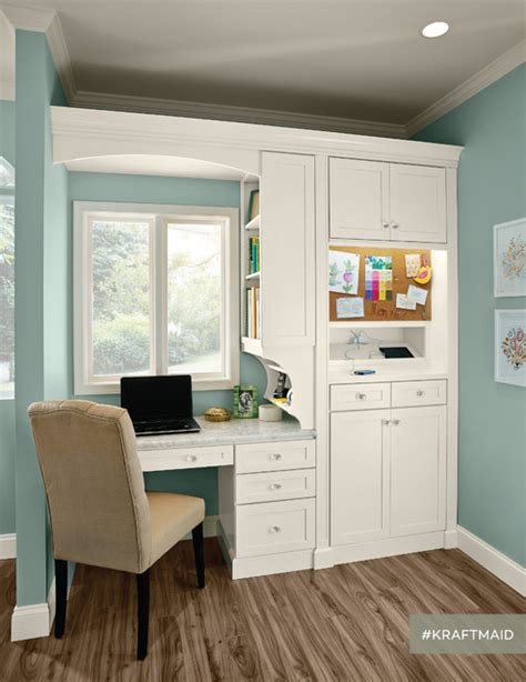 kitchen cabinets for home office kraftmaid kitchen home office area traditional home 8033