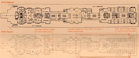 titanic deck plans with room numbers a deck