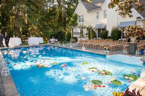 luxurious backyard wedding   private residence