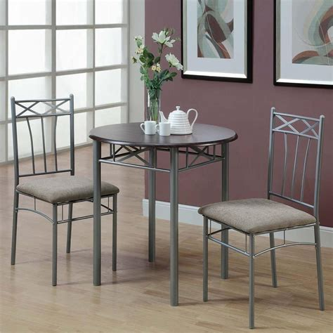 Cappuccino Finish 3 Piece Bistro Small Dining Set Kitchen