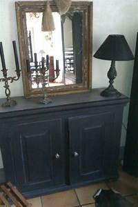 repeindre un meuble en bois en noir pierre paris With repeindre un meuble en bois en noir