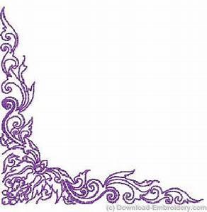11 Purple Corner Border Designs Images - Purple Flower ...