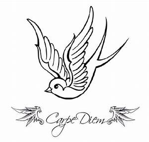 Carpe Diem Sparrow Tattoo Pictures at Checkoutmyink.com
