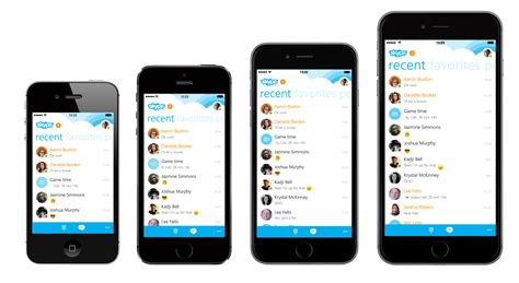 skype iphone skype iphone app updated with optimized ui for iphone 6