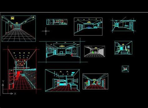 3d Wire-frame Perspective,free Autocad Drawing, Cad Blocks