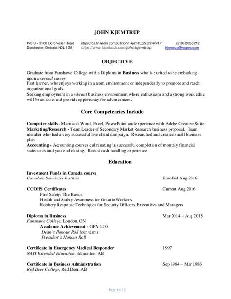 Chronological Resume Sle For Fresh Graduate by Resume Jan 26 2017