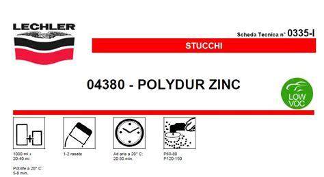 stucco carrozziere stucco metallico carrozzeria lechler polydur zinc 04380