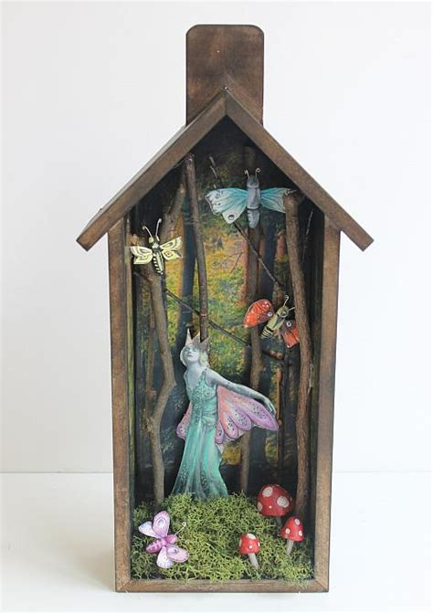 mother natures forest home shadow box project  decoart