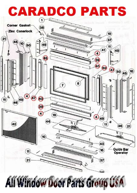caradco clad  wood window sash parts single double hung awning casement measuring guide