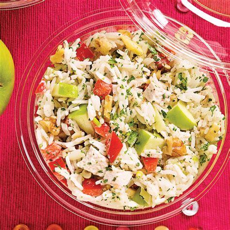 cuisine salade de riz salade de riz au poulet pommes et noix recettes