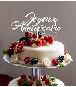 Image De Gateau D Anniversaire : cake topper joyeux anniversaire en impression 3d by le ~ Melissatoandfro.com Idées de Décoration