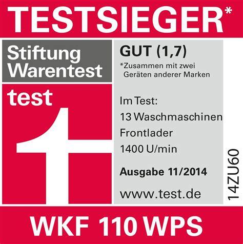 Stiftung Warentest by Miele Wkf110 Wps Wir Testen Waschmaschinen