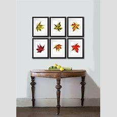 Fall Decorations Maple Leaf Set Of 6 Botanical Prints Wall