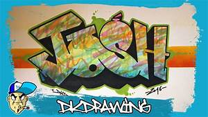 How to draw graffiti names - Josh #17 - YouTube