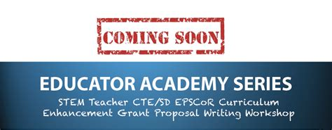 coming  teacher grant proposal writing workshop sd