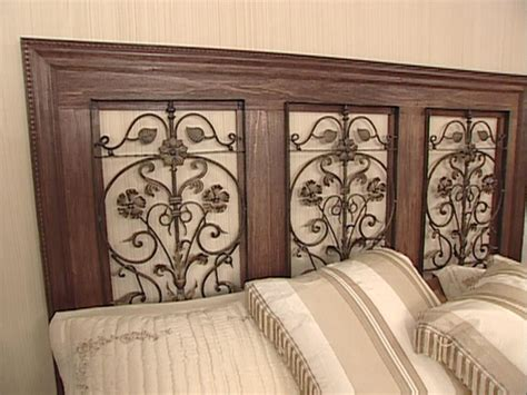 Wrought Iron And Wood King Headboard by How To Build A Wrought Iron Panel Headboard Hgtv