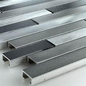 Kronleuchter Metall Schwarz : muster aluminium alu metall mosaik fliesen schwarz silber mix ebay ~ Orissabook.com Haus und Dekorationen