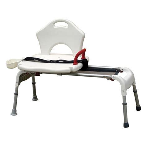 drive folding universal sliding transfer bench