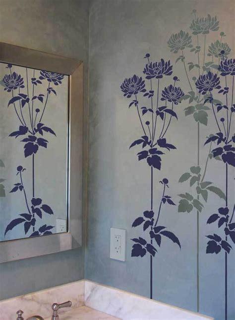 Wall Stencil Garden Anemone Reusable Wall Art Stencils