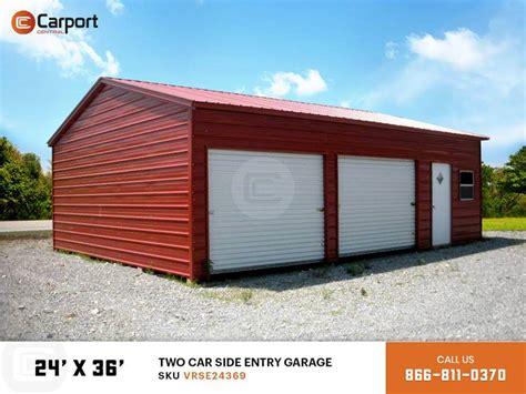metal garage side load 24x36 carport storage