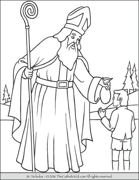 Saint Nicholas Coloring Page Thecatholickidcom