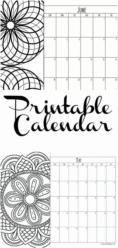 Calendar Printable Monthly Each Month Schedule Write