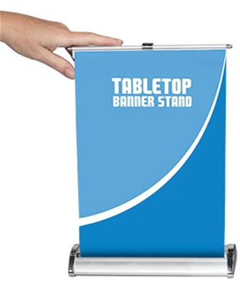 table top banner display nimbus 8 table top retractable banner stand power