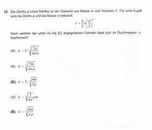 Funktionsgleichung Berechnen : funktionsgleichung nach welcher der aufgelisteten formeln l sst sich der kugeldurchmesser d ~ Themetempest.com Abrechnung