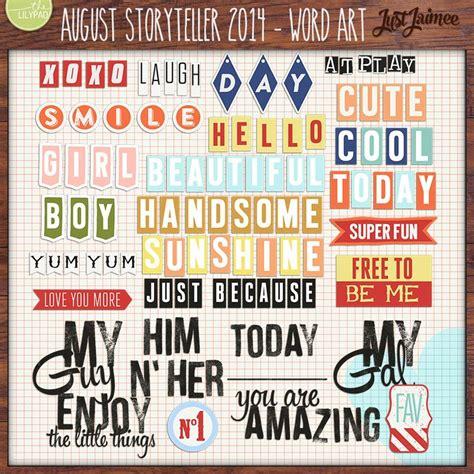August Storyteller 2014 - Word Art by Just Jaimee! # ...