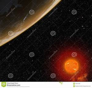 Planet With Red Star. Royalty Free Stock Photos - Image ...