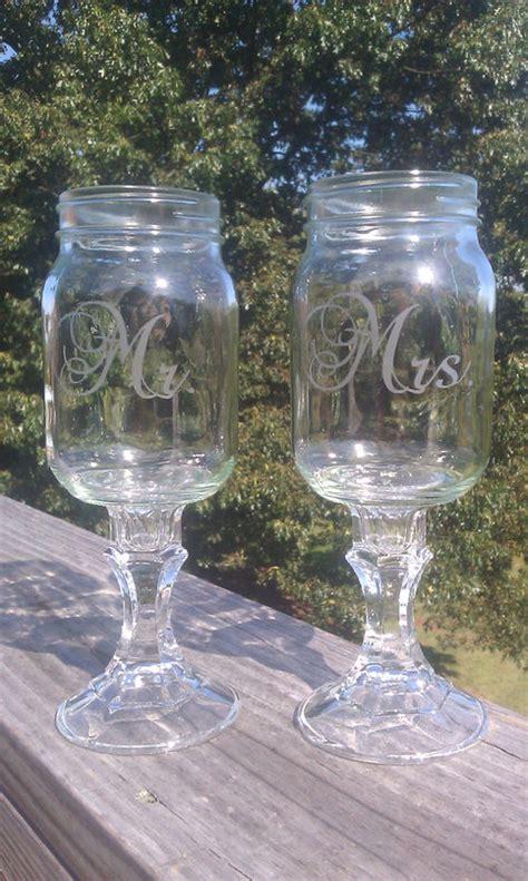 redneck hillbilly mason jar wine glasses