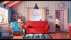 ArtStation - Cartoon living room, Bondok Max