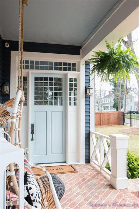 our new light blue front door paint color w ace hardware